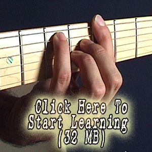 Beginners barre chord video lesson