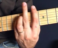 Bb minor barre chord
