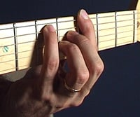 G major 7 barre chord