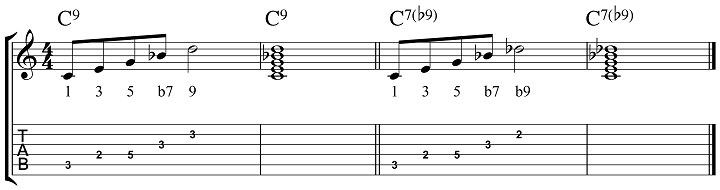How To Build 7b9 Chords
