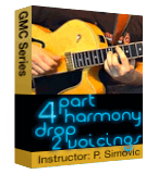 4 Part Harmony Drop 2 Voicings
