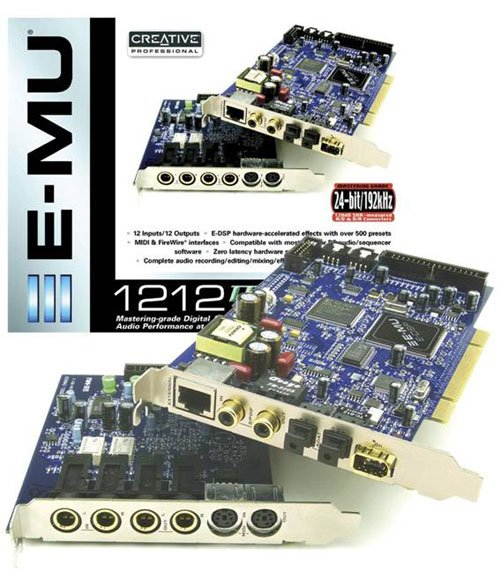 DRIVERS UPDATE: EMU 1212M PCI