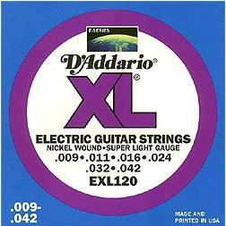 the probably most popular D'Addario product 009-042