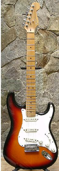 "A Stratocaster with the ""original"" painting"