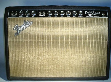 a Fender blackface deluxe reverb amp