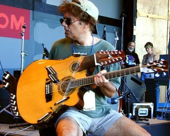 "Pat Metheny with the ""Pikasso"" guitar"
