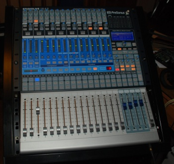 StudioLive on top of a standard rack-unit