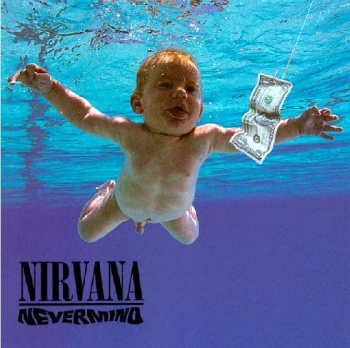 Cover of the album Nevermind, one of the most popular rock albums ever