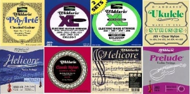 some string packages to show you the variations of strings in the D'Addario sortiment