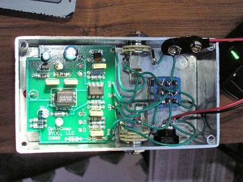 Here is a picture of the finished board and wiring.