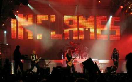 In Flames performing live