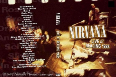 Cover of the At Reading DVD with tracklist