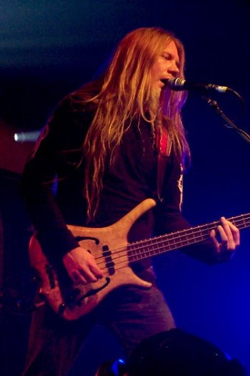Marco Hietala and his bass