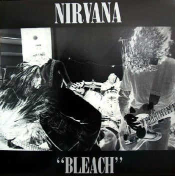 Cover of the album Bleach that Kurt designed himself