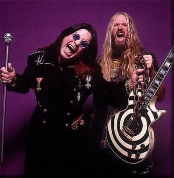 Ozzy Osbourne(left) Zakk Wylde(right)