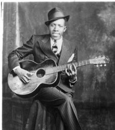 One of the two known photos of Robert Johnson